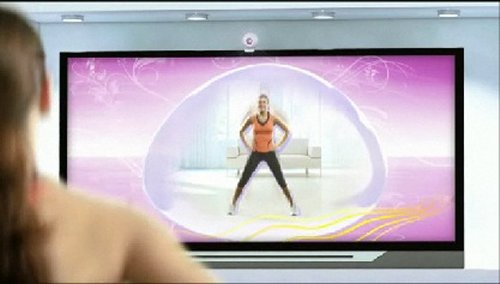 Camera on top of TV analyzes and advises you on your workout.